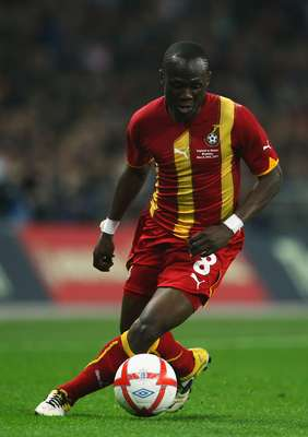 El ghanés Agyemang Badu le marcó un gran gol a Guinea por la Copa Africana de Naciones.