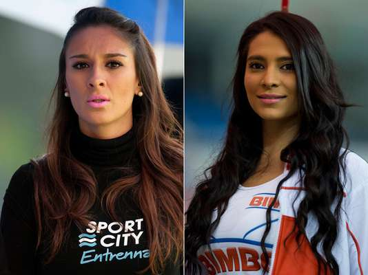 Beautiful cheerleaders brightened up the Semifinals of Liga MX
