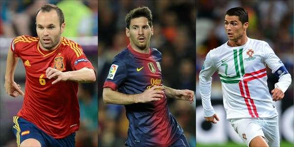 El argentino Lionel Messi, el portugués Cristiano Ronaldo y el español Andrés Iniesta son los finalistas para el Balón de Oro de la FIFA de 2012, cuyo ganador se conocerá el próximo 7 enero en Zurich, informó en Sao Paulo el máximo organismo del fútbol. (Con información de AP)
