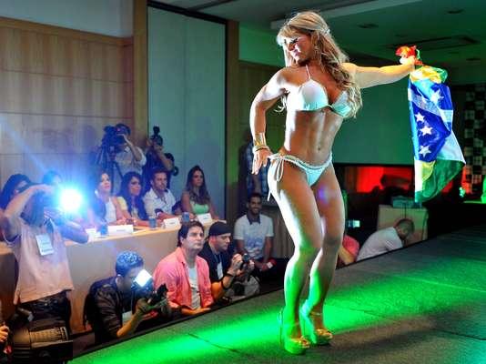 Carine Felizardo, candidata do Estado do Pará, levou a faixa de Miss Bumbum 2012, em evento realizado na noite desta sexta-feira em São Paulo