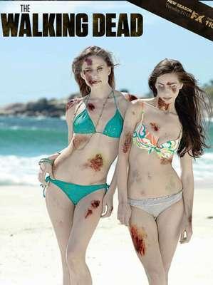 Una agencia de publicidad de Sudáfrica ingenió lanzar un calendario 2013 de chicas zombies en bikini para promocionar la tercera temporada de la serie 'The Walking Dead'.