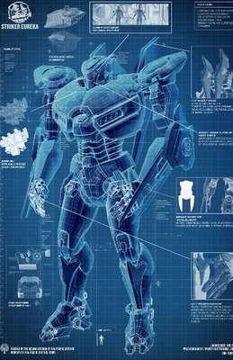 El director mexicano Guillermo del Toro y Warner Bros. Pictures preparan su nuevo filme 'Pacific Rim', donde un grupo de soldados debe pilotear robots gigantes llamados Jaegers, para luchar contra enormes monstruos al mejor estilo de ciencia ficción japonés. La película se estrenará hasta julio de 2013 pero mientras tanto te presentamos algunos de estos Jaeger y sus nombres clave. Éste es el Jaeger del Pacífico, 'Stricker Eureka'.