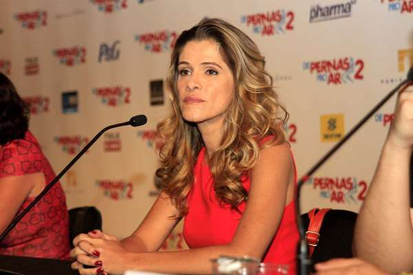 A atriz Ingrid Guimarães durante coletiva de lançamento do longa 'De Pernas pro Ar 2', que estreia no dia 28 de dezembro no País