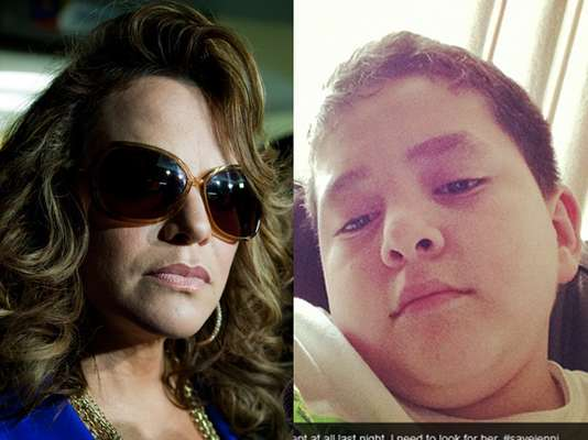 Jenni Rivera's son, Johnny, has taken to Twitter to speak out about his mother's death.  Not only did he thank various celebrities such as Jennifer Lopez and Kate del Castillo for their support following his mother's plane accident, but he's also shared posts from an alleged psychic who claimed 'La Diva de la Banda' was alive.  Click through to see his tweets.