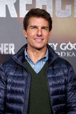 Tom Cruise attended the Jack Reacher premiere in Madrid.