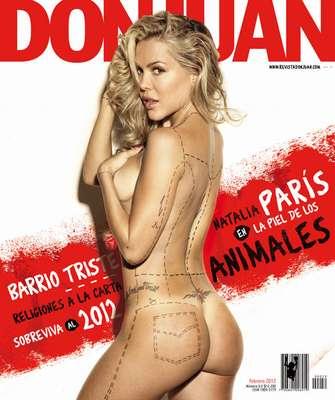 Natalia Paris. La figura de modelos, actrices y presentadoras ha sido la portada de las revistas más importantes del país.