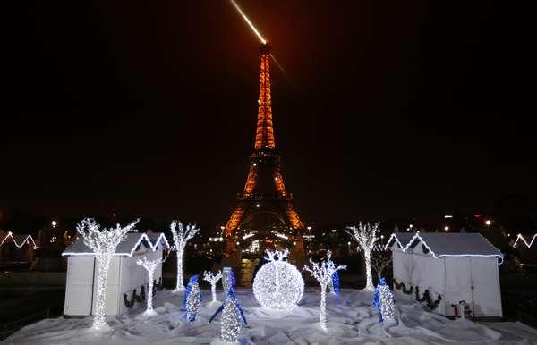 La Navidad ha llegado al sitio más romántico del mundo.