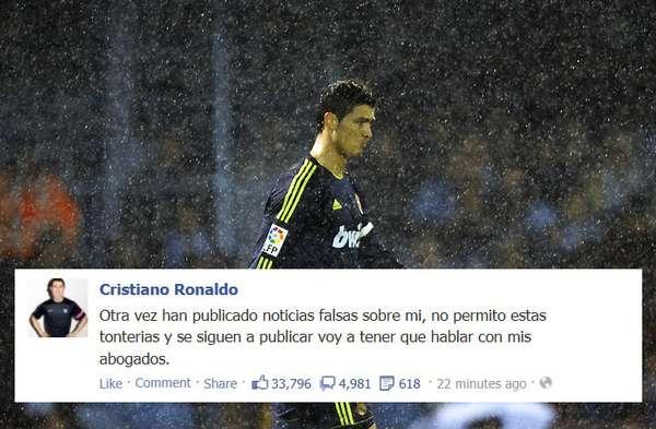 Cristiano Ronaldo parece haber tenido suficiente de las mentiras que piensa, se difunden a su alrededor, y ya planea hacer algo al respecto.