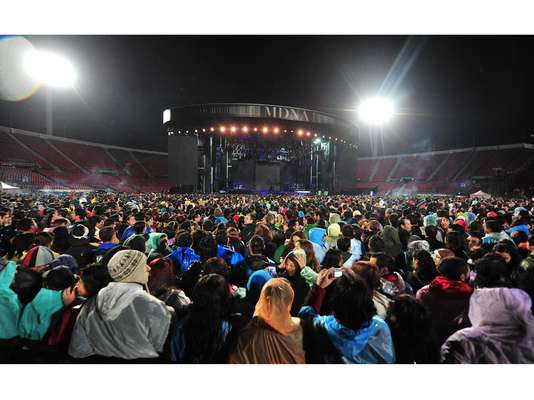 Madonna fans in Santiago, Chile were left deceived after Madonna hit the stage with a lackluster show following a two and a half hour rain delay at Estadio Nacional on Wednesday (December 19).