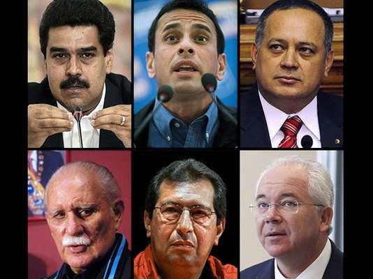 Hugo Chávez, aquejado por una severa infección pulmonar tras su cuarta operación de cáncer en La Habana, y su ausencia ha generado una situación de incertidumbre en Venezuela, en la que los siguientes actores políticos has destacado: Nicolás Maduro, Diosdado Cabello, Rafael Ramírez, Adán Chávez, José Vicente Rangel, Henrique Capriles.