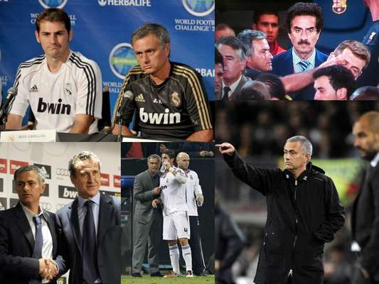 Jose Mourinho, the self proclaimed Special One, was in charge of Real Madrid from the 2010-11 season through the end of this campaign, as club president Florentino Perez announced in a press conference Monday that the two-time Champions League-winning coach would not return to Madrid next season. Since taking over the Merengues, the Portuguese coach has been involved in several controversies, resulting in his leaving the team. Here is a recap of Mourinho's antics during his run.