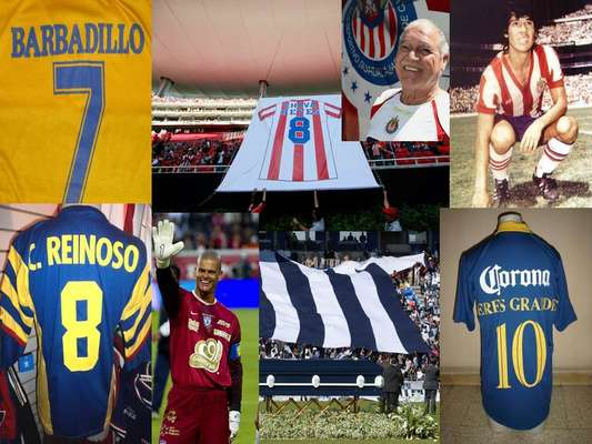 These are the legends that have had their number retired in Mexican Soccer from fans to club leaders.