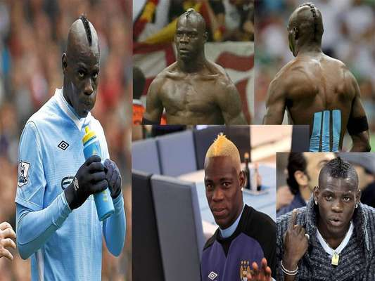 Among the many reasons Mario Balotelli continues to make news is his penchant for unique hairdos. Let's take a look at some of the most fabulous hairstyles on and off the pitch.