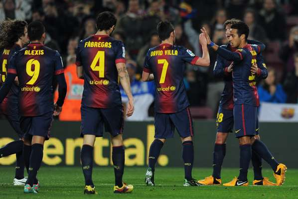 Thiago Alcantara celebrates is goal with his teammates.