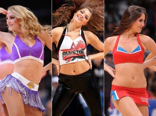 Hermosas cheerleaders brillaron con su belleza y animaron el inicio del 2013 en la NBA.