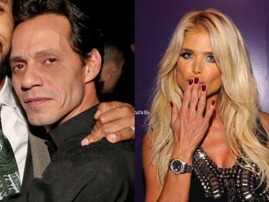 OMG! What were Marc Anthony and Playboy model, Victoria Silvstedt, doing at the same place, at the same time?