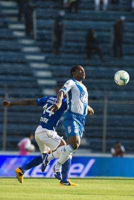 Puebla started well with Félix Borja having several early chances, though he wasn't able to finish any.