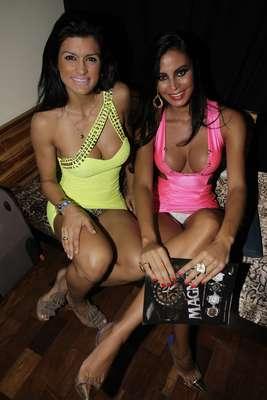 Lorena Bueri, a Gata do Paulistão, e Camila Vernaglia, terceira colocada do Miss Bumbum 2012, mostraram demais na festa da revista Sexy, em São Paulo, na noite desta terça-feira (29)