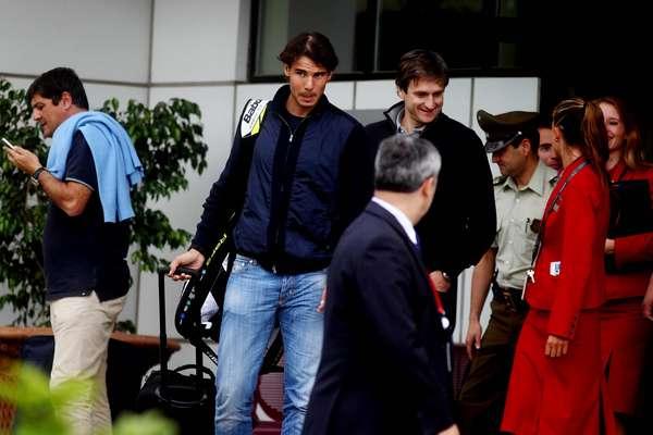 El tenista español, actual número 5 de la ATP, arribó al país de cara a su participación en el ATP de Viña del Mar que se iniciará el próximo lunes.