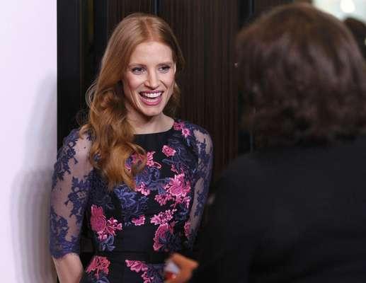 """Jessica Chastain, nominada por Mejor Actriz por su actuación en """"Zero Dark Thirty"""", se pone al corriento con sus colegas en el desayuno de nominados al Oscar 2013"""