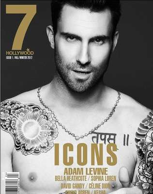 Maroon 5's Adam Levine shows off his bare chest modeling designer clothes for 7 Hollywood magazine's icons issue photo shoot. Take a look at his amazing body!