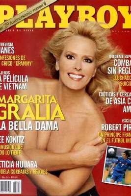 Algunas famosas presumen la escultural figura que conservan pasados los cuarenta años, incluso, han ido más allá mostrando sus curvas para Playboy, como lo hizo la actriz Margarita Gralia, quien posó para la revista del conejito en 2004.