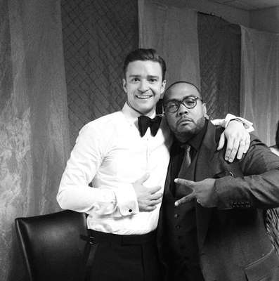 Justin Timberlake joined Instagram after the Grammys and treated his followers to a bevy of black-and-white photos from the awards night. Check out our favorite picks from his account. Here's JT and Timbaland cheesing for the camera!