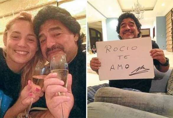 After his separation last year from long time girlfriend Veronica Ojeda, Diego maradona seems to have found love again.