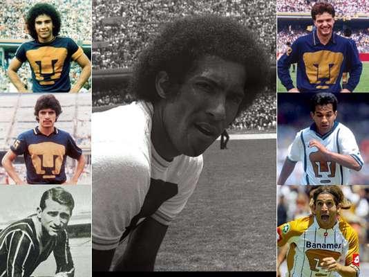 Alberto Etcheverry, Cabinho, Hugo Sánchez, Luis Flores, Luis García, Jesús Olalde y Bruno Marioni, son los campeones de goleo que presume Pumas en el futbol mexicano.