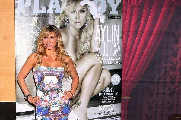 Aylín Mujica está en la Ciudad de México promocionando la recienteedición de la revista Playboy donde ella posó desnuda.Estrellas denovela que se han desnudado en Playboy Cubanas en las novelas...¡Candela pura! Bellas: Debuenas en las novelas, de malas en el amor