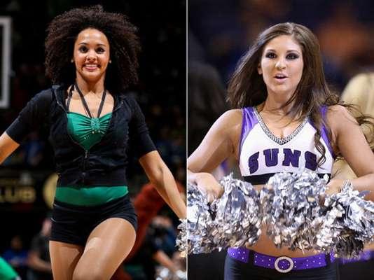 Hermosas porristas animaron los juegos de marzo en la temporada 2012-13 de la NBA.