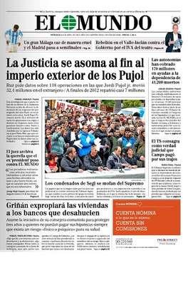 El diario 'El Mundo' opta por las operaciones de Jordi Pujol Jr en el extranjero como tema de su portada