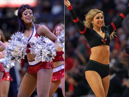 Hermosas cheerleaders animan los juegos de abril de la temporada 2012-13 de la NBA.