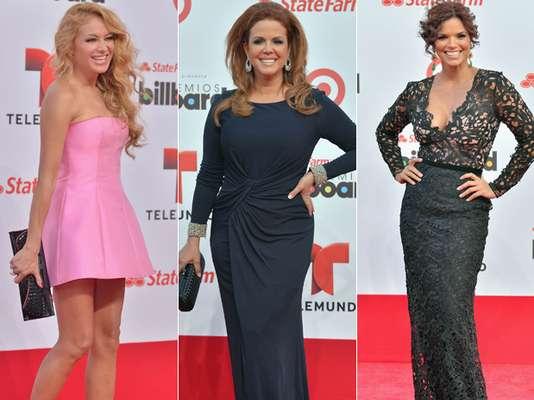 Los famosos hacen su entrada triunfal para celebrar los éxitos de la música latina. ¿Quiénes se vieron mejor en la alfombra roja de los Billboard Latinos 2013?