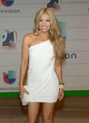 Thalía y su look de rubia de fuego causaron un verdadero revuelo en la ceremonia de entrega de los Premios Juventud 2013, realizada desde las imponentes instalaciones del BankUnited Center de la Universidad de Miami, el 18 de julio.