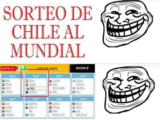 Sorteo: hinchas ironizan en memes con difícil grupo de Chile