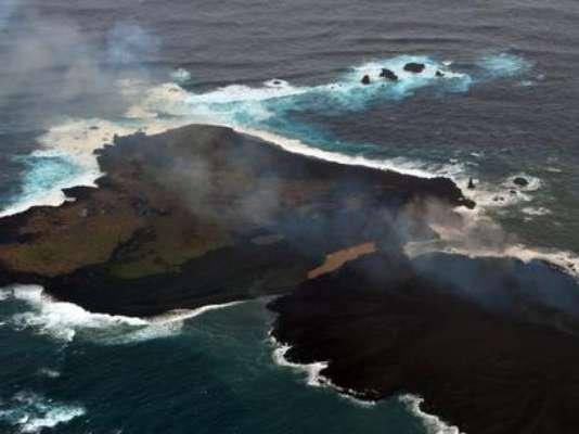26 de dezembro - Ilha formada por erupções vulcânicas subterrâneas continua aumentando. Leia mais -