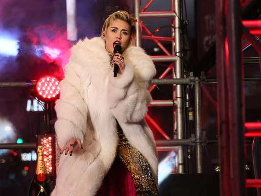 Miley Cyrus festejó la llegada del Año Nuevo en Nueva York.