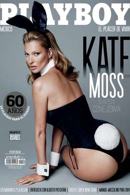 Kate Moss inicia 2014 al desnudo en la revista Playboy. La polémica modelo se convirtió en la musa que adorna todas las ediciones alrededor del mundo de la revista para caballeros.