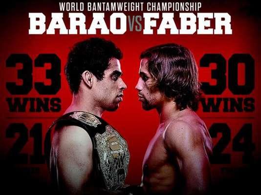 1º Renan Barão x Urijah Faber, no dia 1 de fevereiro, em Newark (EUA)Vale o cinturão do peso galo