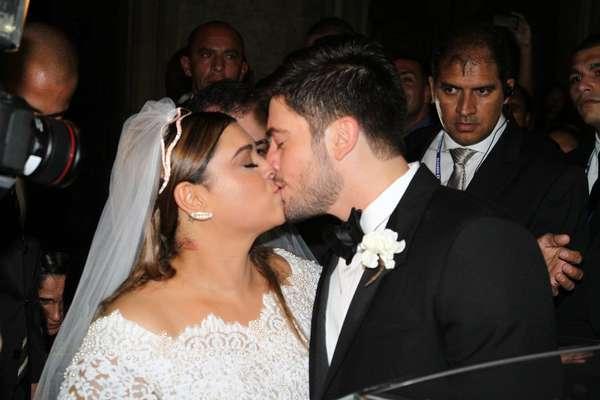 Preta Gil e Rodrigo Godoy fizeram sua cerimônia de casamento religioso nesta terça (12), na Igreja Nossa Senhora do Carmo, no Centro do Rio de Janeiro