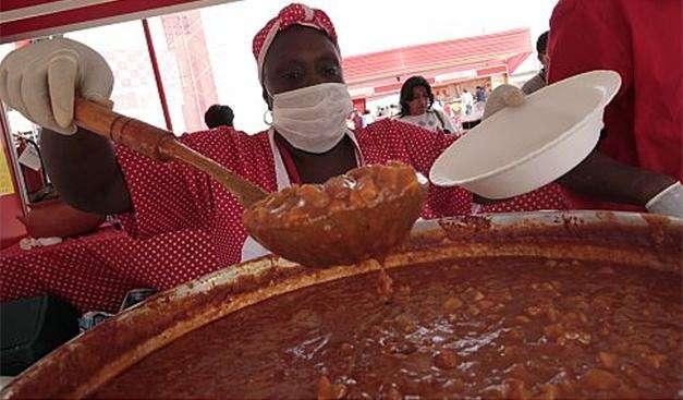 La sopa seca con carapulcra fue uno de los platos más vendidos en Feria Perú, Mucho Gusto en Tacna. Foto: Foto: Richard Hirano./Terra Perú