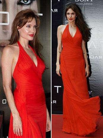 Angelina Jolie derretida por los modelitos de Versace