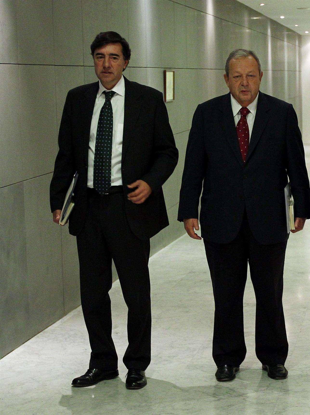 José Antonio Bermúdez de Castro y Txiki Benegas Foto: EUROPA PRESS