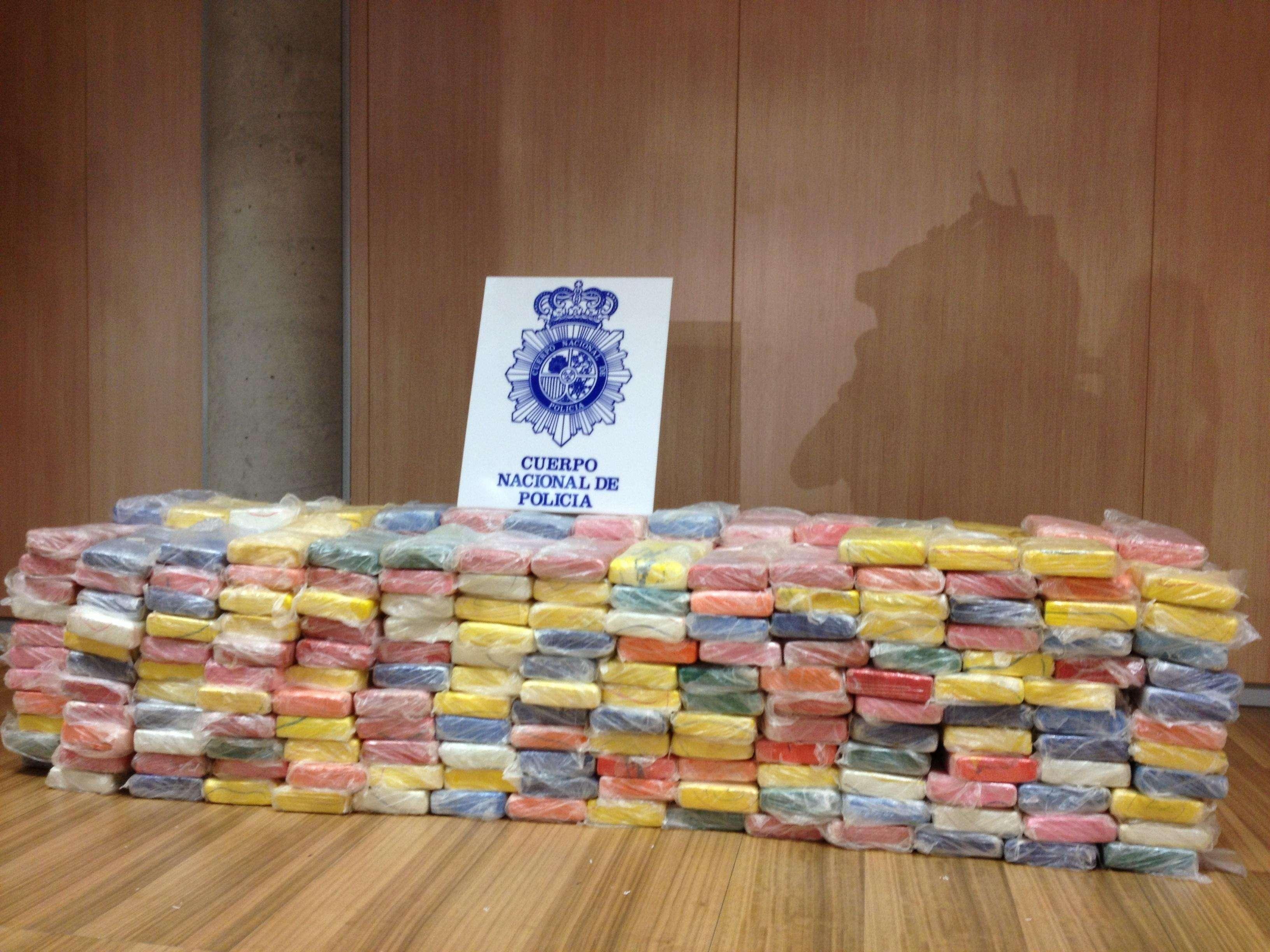 Cocaína (373 kilos) intervenida en España al cartel Sinaloa Foto: EUROPA PRESS