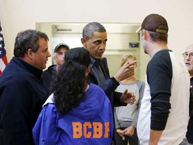Obama visita zonas devastadas por Sandy en Nueva Jersey