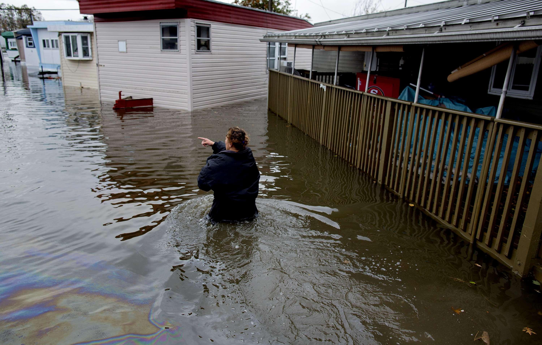 Pueblos de Nueva Jersey bajo el agua que trajo 'Sandy'