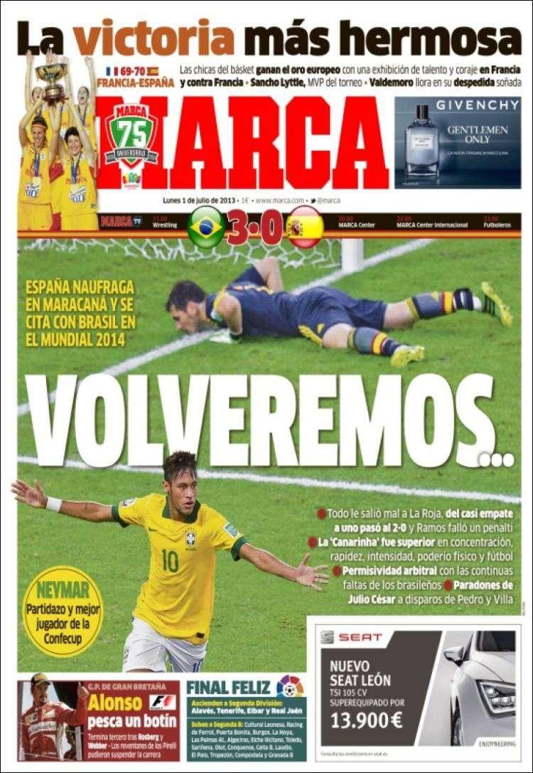 Victoria brasileña acapara las portadas de la prensa mundial