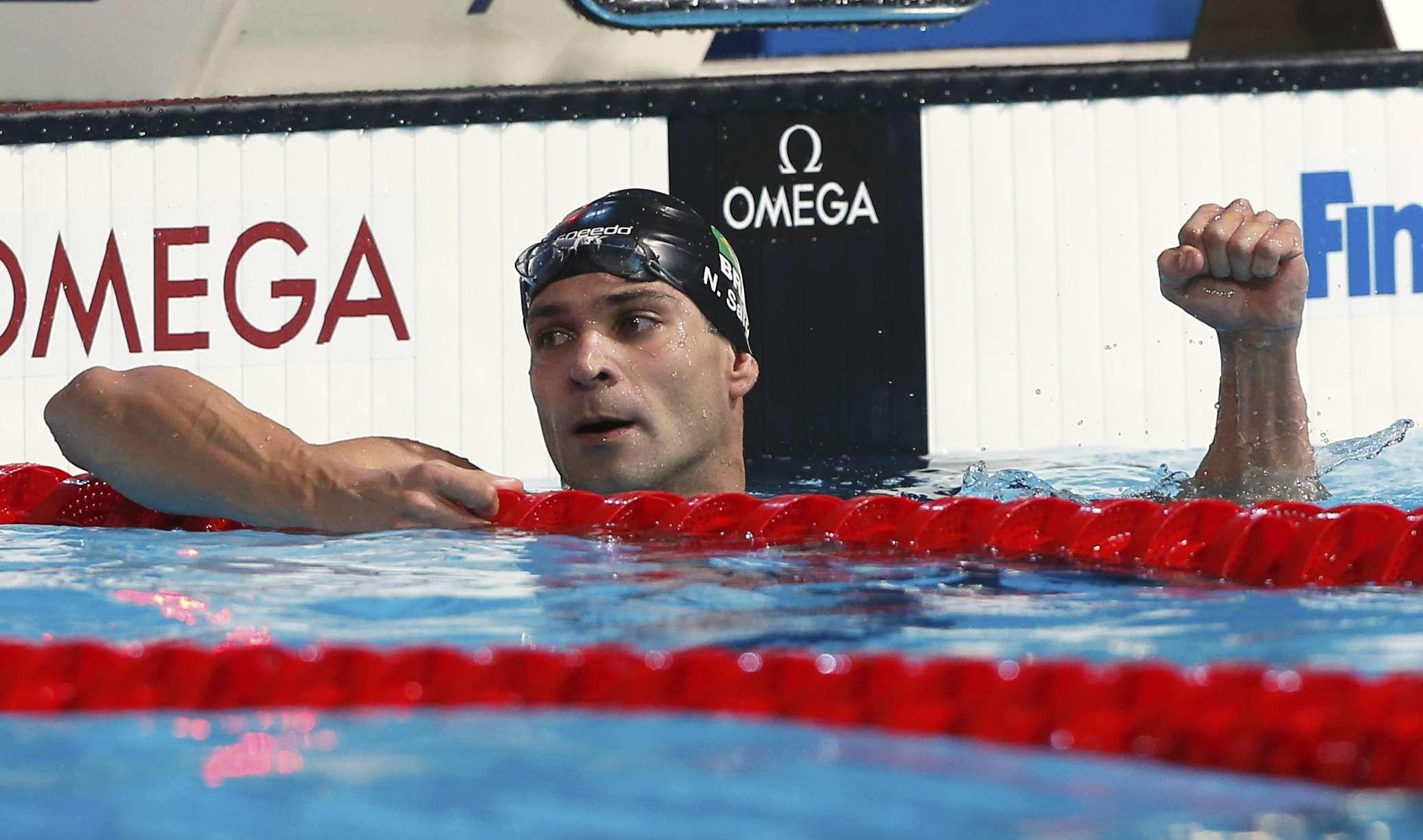 Nicholas Santos cravou o melhor tempo do mundo em 2013 nos 50 m borboleta Foto: Reuters
