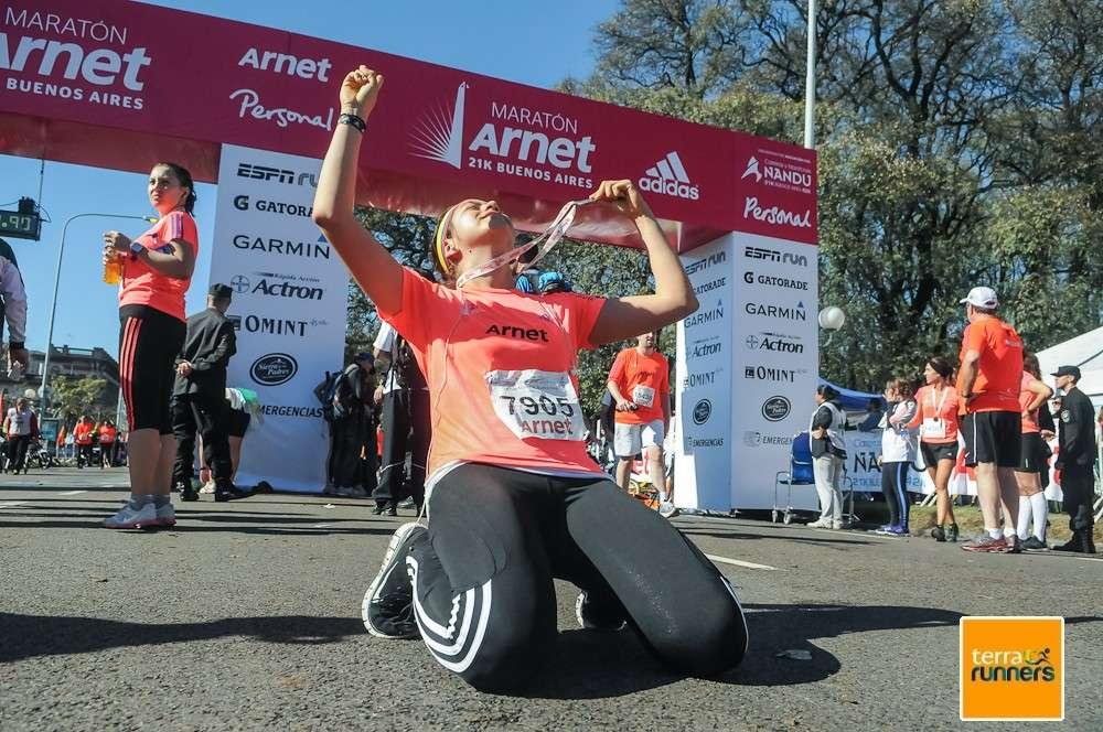 Desde Figueroa Alcorta y La Pampa, más de 17.000 corredores sintieron varias sensaciones en los 21K de Buenos Aires Foto: Daniela Amdan/Terra